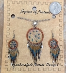 Necklace and Earrings Dream Catcher Set