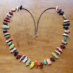 Fetish necklace - Stacked very long, 42 mixed animals Neil Thomas, Navajo