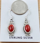 Bright Red Spiny Oyster Earrings