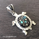 Starry Night Turtle Pendant