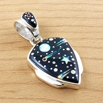 Arrowhead Pendant Starry Night Design