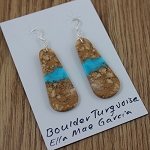 Large Boulder Turquoise Slab earrings