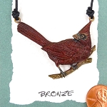 Bronze Cardinal Necklace