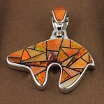 Calvin Begay Two Sided Bear Pendant