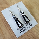 Calvin Begay Black and White Earrings