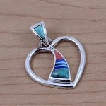 Calvin Begay Open Heart Pendant