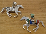 Calvin Begay Multi Colored Horse Pendant