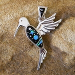 Calvin Begay Midnight Sky Hummingbird Pendant