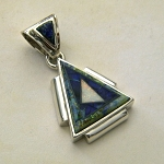 Calvin Begay Triangular Sterling Silver Pendant