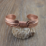 Copper Feather Bracelet