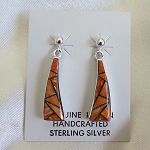 Calvin Begay Spiny Oyster and Opal Earrings