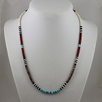 Fine Heishi Bead Necklace, Santa Domingo Pueblo, NM 18