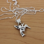 Sterling Silver Hummingbird Pendant and Chain.