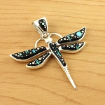 Large Starry Night Dragonfly Pendant