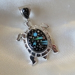 Fred Begay Starry Night Turtle Pendant