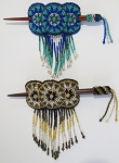 Hand Beaded Three Circles Hair stick