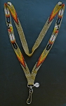 Beaded Medicine Wheel & Eagle Feather Lanyard
