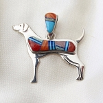 Multi Colored Dog Pendant