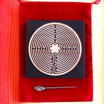 Chartres Wooden labyrinth 4 inch wide with pointer