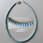 Larimar Bead Necklace