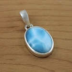 Larimar with a beautiful silky texture