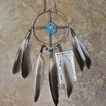 Authentic Native American Medicine Wheel with Antler Center