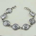 Link Bracelet - 7 or 8 links with different designs