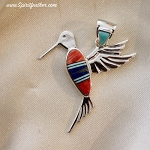 Multi Colored Hummingbird Pendant