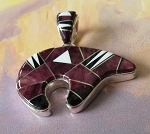Calvin Begay Large Two Sided Bear Pendant