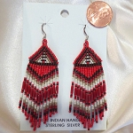 Navajo Petit Bead Tapered Earrings