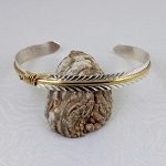 Sterling Silver Narrow Feather Bracelet