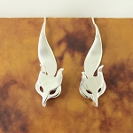 Sterling Silver Fox Earrings