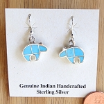 Fine Inlay Turquoise Bear Earrings
