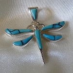 Turquoise Dragonfly Pendant - smaller size