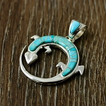 Sleeping Beauty Turquoise Lizard Pendant