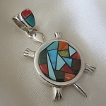Calvin Begay Large Mosaic Inlay Turtle