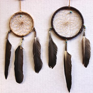 "Authentic Native American Dream Catcher 3"" and 4"" hoop"
