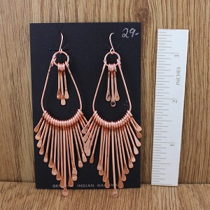 Copper Long Tapered Earrings