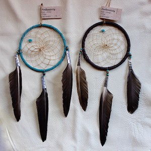 "Authentic Native American Dream Catcher 4"" hoop"