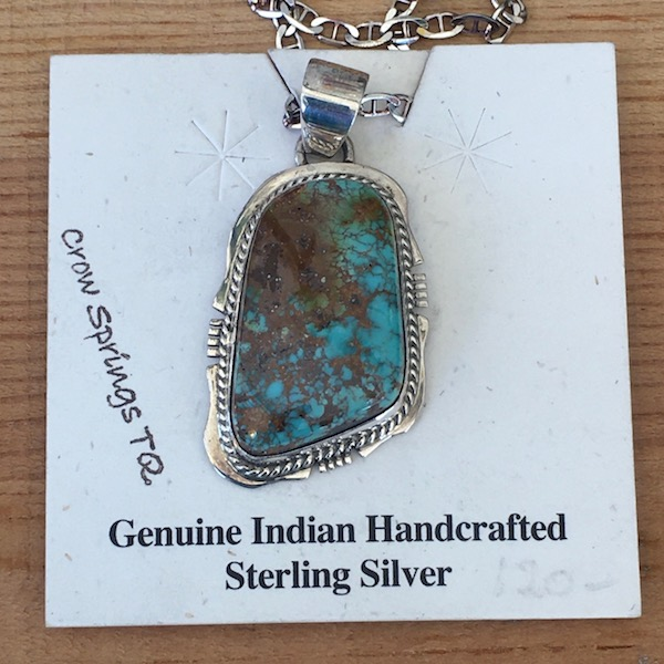 Crow Springs Turquoise Pendant includes an 18