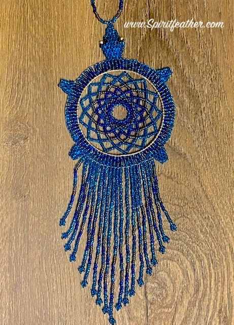 Gorgeous Hand Beaded Turtle Dream Catcher