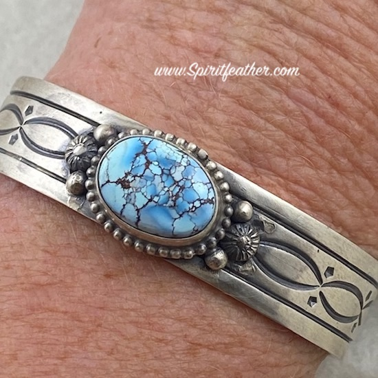 Gorgeous Golden Hill Turquoise and Sterling Silver Bracelet