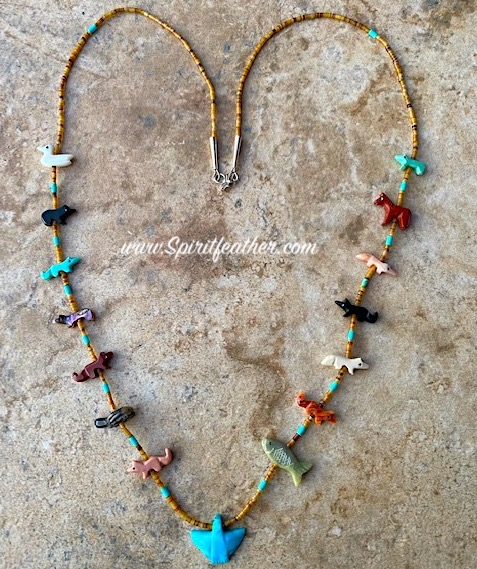 Mixed Animal Necklace by Hector Goodluck, Navajo