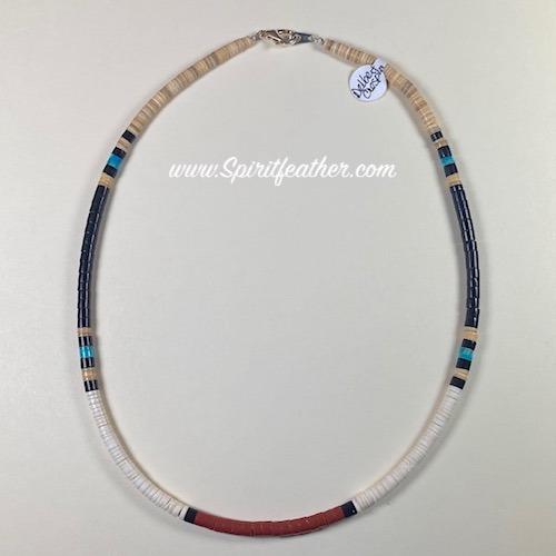 Heishi Bead Necklace, Santo Domingo Pueblo, NM 18