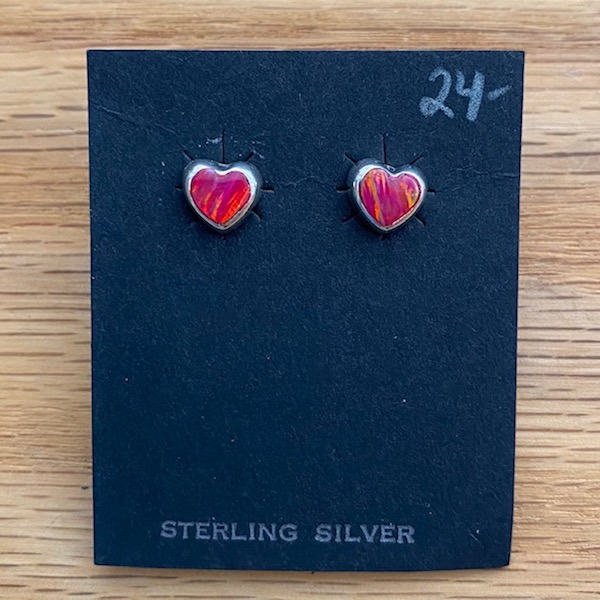 Sweet Pink Opal and Sterling Silver Earrings