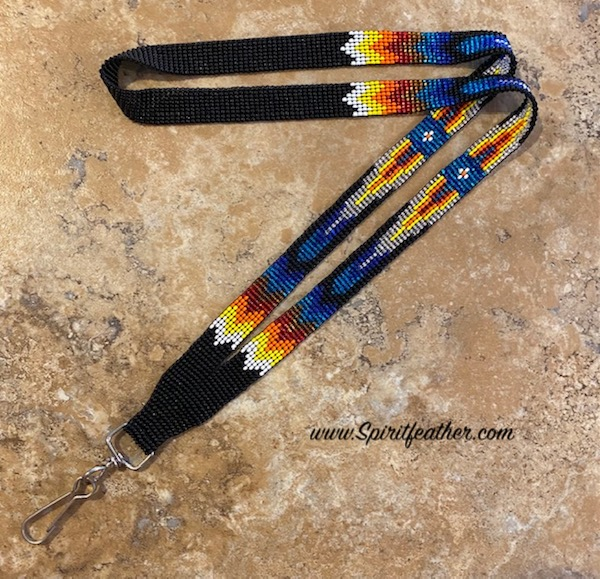 Hand Beaded Lanyard - can hold anything including your mask