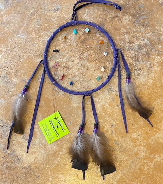 Authentic Native American Large Spirit Stone Dream Catcher 6