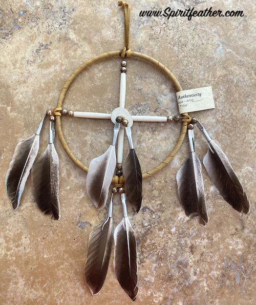 Native American Indian Medicine Wheel, 6 inch Hoop