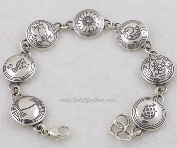 Sterling Silver Link Bracelet - 7 images with different designs
