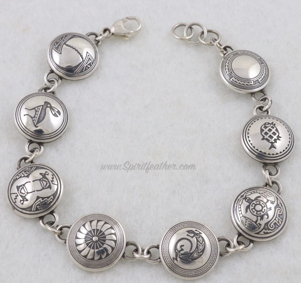 Sterling Silver Link Bracelet - 8 images with different designs